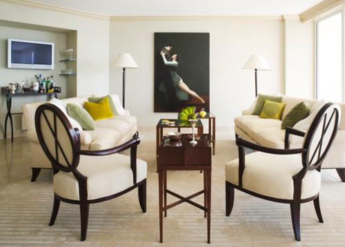 Aventura Florida contemporary-living-room