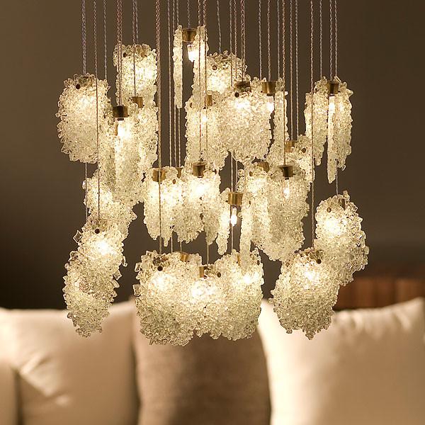 Iron table lamps - Light In Art Quartz Crystal Chandelier Halogen Eclectic Chandeliers
