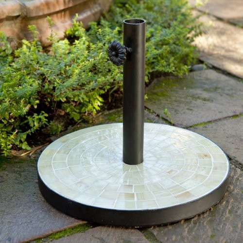 26 lb. Opulent Mosaic Patio Umbrella Stand - contemporary - coat ...