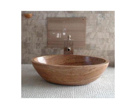 Custom Travertine Piedra Bathtub by WS Bath Collection -