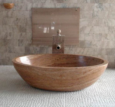 Custom Travertine Piedra Bathtub by WS Bath Collection contemporary-bathtubs