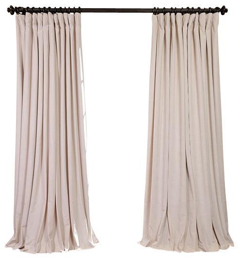 signature ivory doublewide blackout velvet curtain