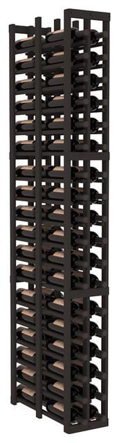 2 Column Double Deep Cellar in Pine, Black contemporary-wine-racks