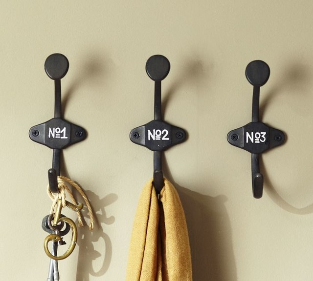 Schoolhouse Numbered Hooks traditional-wall-hooks