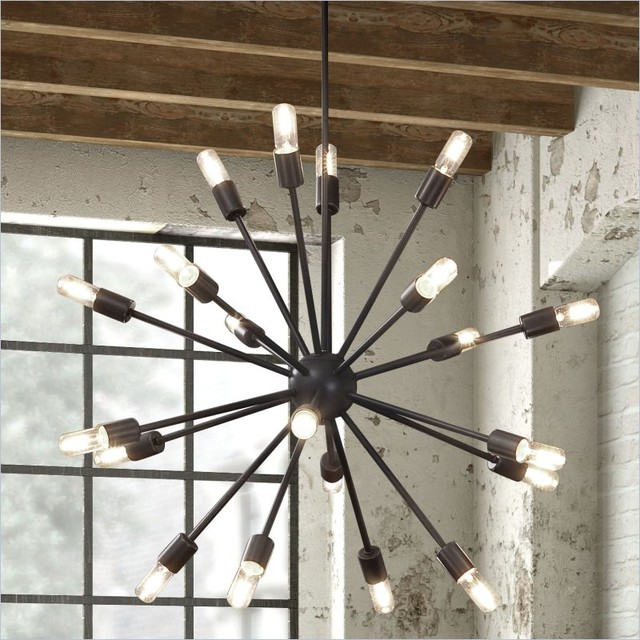 ZUO Sapphire Ceiling Lamp in Large Rust modern chandeliers