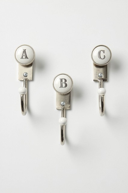 alphabet hooks contemporary towel bars and hooks