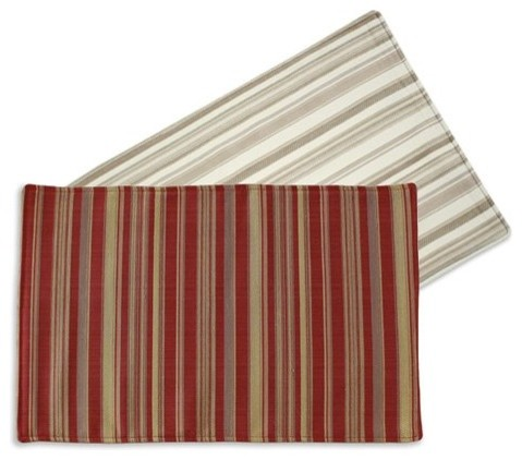 Chooty & Co. Demand Reversible Placemats - Set of 4 traditional-placemats