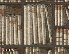 Fornasetti Ex Libris Wallpaper eclectic-wallpaper