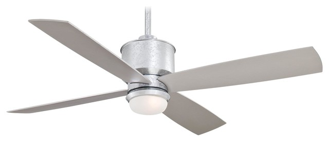 "Minka Aire F734-GL Strata Galvanized 52"" Outdoor Ceiling Fan with Remote Control industrial-ceiling-fans"