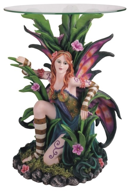 Fairy Display Statue Table Collection Fantasy Figurine Decoration - Eclectic - Holiday ...