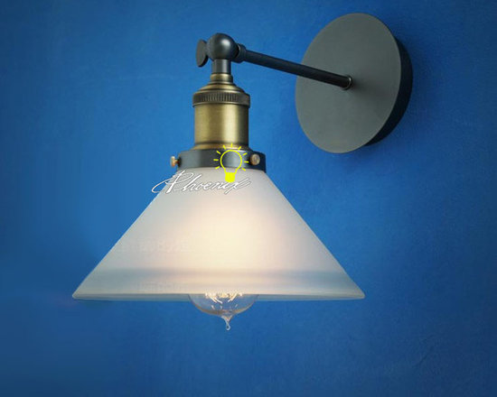 RH LOFT Industrial Wall Sconce in Painted Finish - RH LOFT Industrial Wall Sconce in Painted Finish