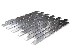 Large Brick Pattern Mosaic Stainless Steel Tile contemporary-tile