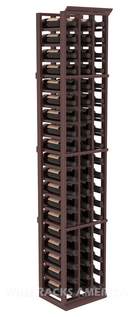 3 Column Standard Cellar Rack in Redwood with Walnut Stain traditional-wine-racks