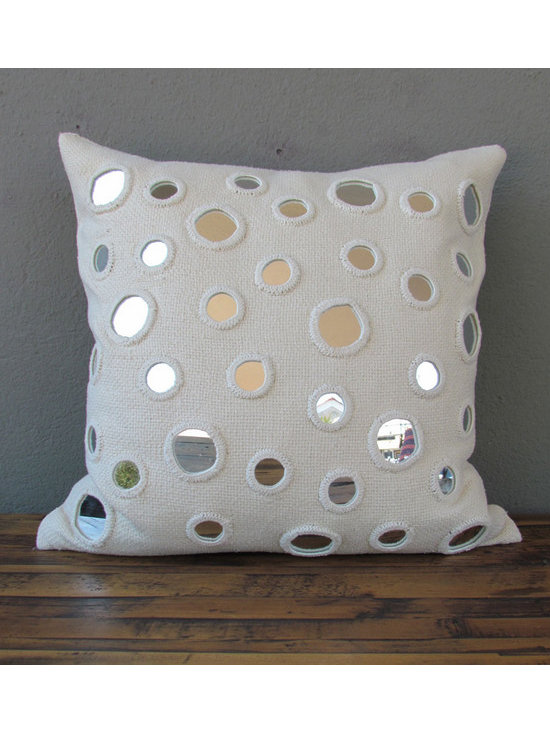 ivory decorative pillow - please e-mail us at info@redinfred.com for more information + purchasing availability