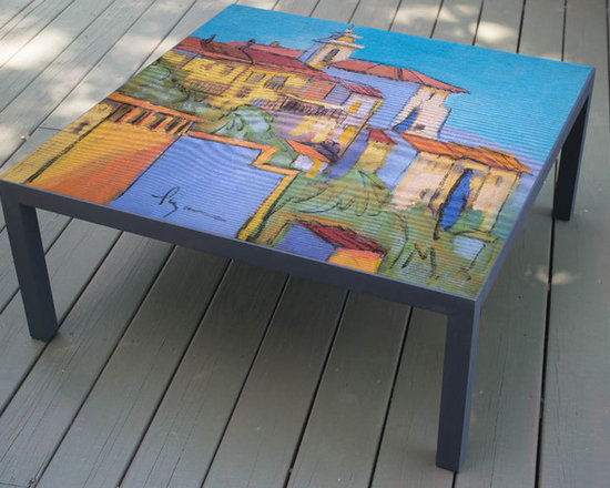 Hand Painted Coffee Table, made to order, Sanctuary design -
