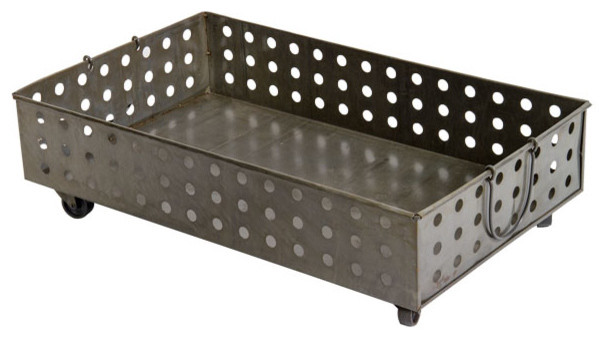 Rolling Metal Dolly baskets