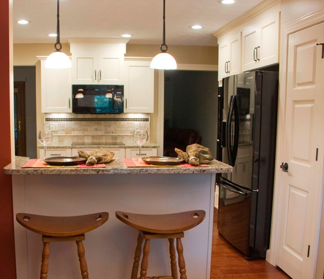 White Kitchens with a twist transitional-kitchen