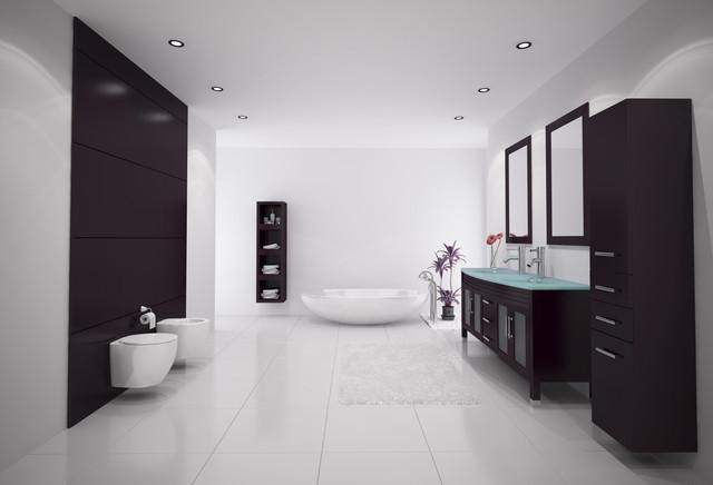 """63"""" Grand Regent Double Bathroom Vanity modern"""