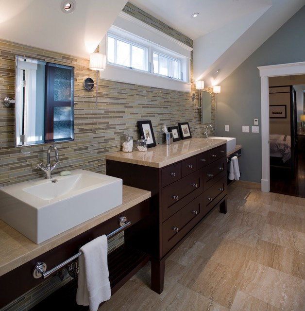 Luxury is for Two transitional-bathroom
