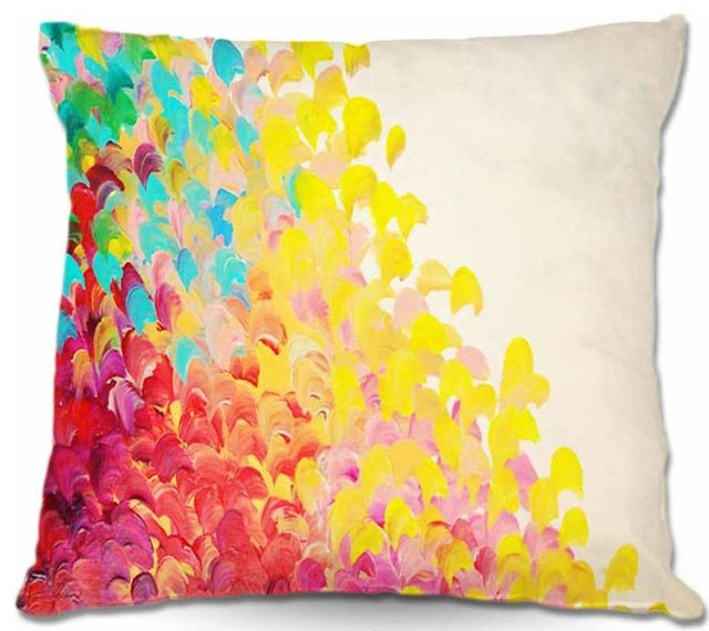 Pillow Woven Poplin from DiaNoche Designs - Creation in Color contemporary-decorative-pillows