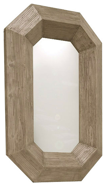 Rila Canted Modern Rustic Chunky Wood Lozenge Floor Mirror farmhouse-mirrors