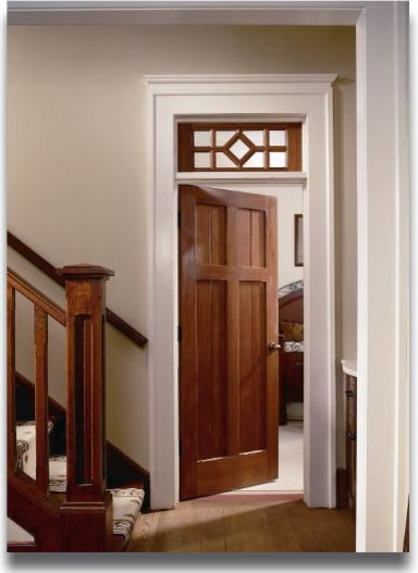 Craftsman wood doors farmhouse interior doors other for Wood doors with painted trim