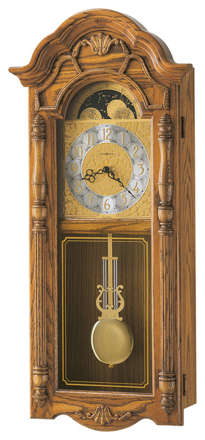 Howard Miller Country Dual Chime Golden Oak Wall Clock | ROTHWELL traditional-wall-clocks