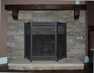 Fireplace Refacing - Traditional - Indoor Fireplaces - dallas - by Southland Flooring & Remodels