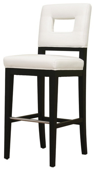Baxton Studio Faustino White Leather Barstool  : transitional bar stools and counter stools from www.houzz.com size 306 x 550 jpeg 22kB