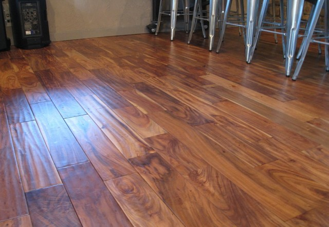 Solid acacia hand scraped prefinished traditional for Traditional flooring