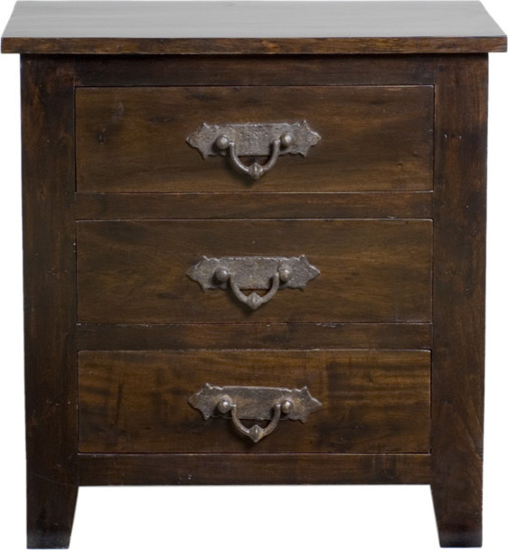 Florence 3 Drawer Nightstand Eclectic Nightstands And Bedside Tables new york by Zin Home
