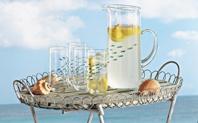 School of Fish Drinkware tropical-everyday-glassware
