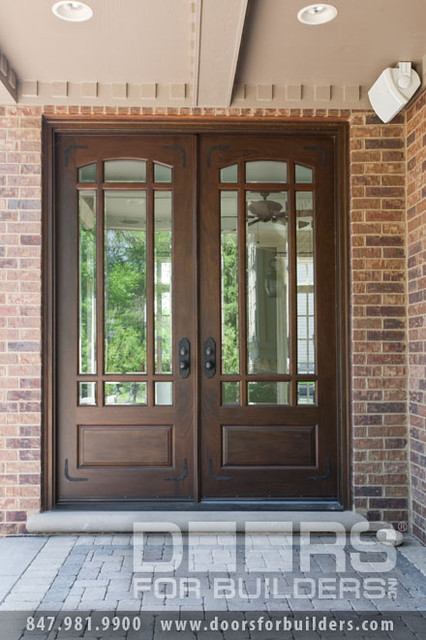SOLID WOOD ENTRY DOORS-DOORS FOR BUILDERS, INC traditional front doors