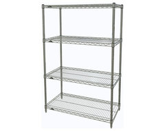 Metro Shelving Unit - 36x18x54 Chrome industrial-garage-and-tool-storage