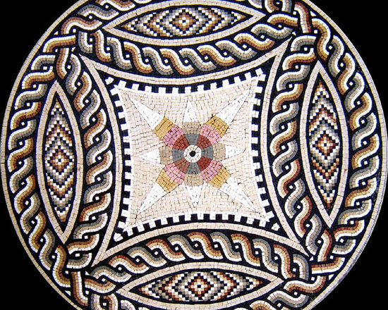 Custom Designed Handcut Marble Mosaic Medallions - Custom Designed and handcrafted Marble Mosaics Medallion Tiles