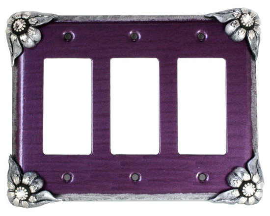 Bloomer Violet Triple Decora Switch Cover -