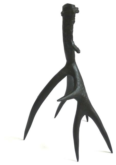 Roost Bronze Antler Candlesticks modern-candleholders