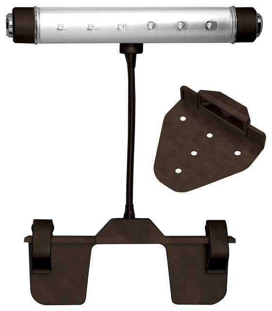 Traditional Rite Lite Bronze Finish Battery Powered LED Picture Light traditional-lighting