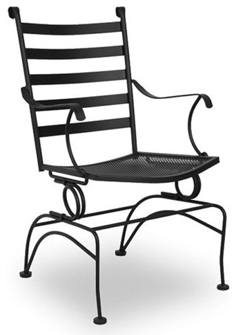 Keep dinner conversation moving with the Meadowcraft Del Rio Coil Spring Chair. traditional-outdoor-lounge-chairs