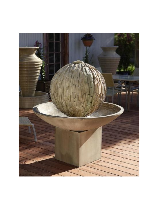 Rubix and Wok Fountain with Riser -