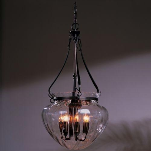 Contemporary Foyer Pendant Lighting : Acharn foyer pendant with water glass contemporary