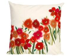 Liora Manne Poppies Red Throw Pillow contemporary-decorative-pillows