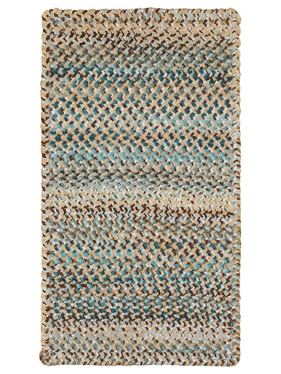 Grand-Le-Fleur rug in Deep Waters - Grand-Le-Fleur by Capel Rugs contains variegated cotton yarns in a chunky, double chenille construction.  The rich color palette was inspired by nature.