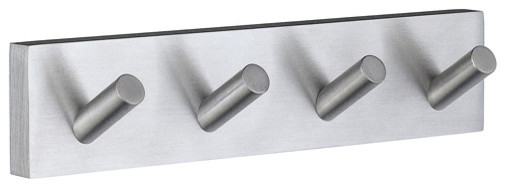 House Four Hook Towel Rack contemporary-robe-and-towel-hooks