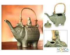 Ceramic 'Buddha and the Jade Elephant' Teapot (Indonesia) contemporary-originals-and-limited-editions
