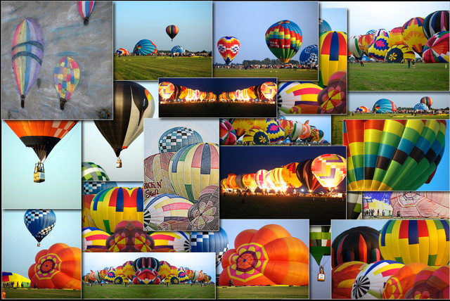 Hot Air Balloon Collage Rectangle - modern - accessories and decor