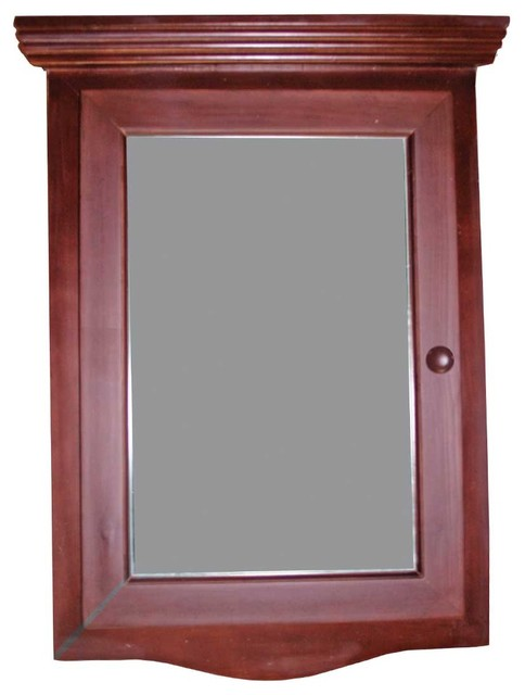 Wood Medicine Cabinet Cherry Finish Hardwood, Wood Medicine Cabinet Cherry Stain transitional-medicine-cabinets