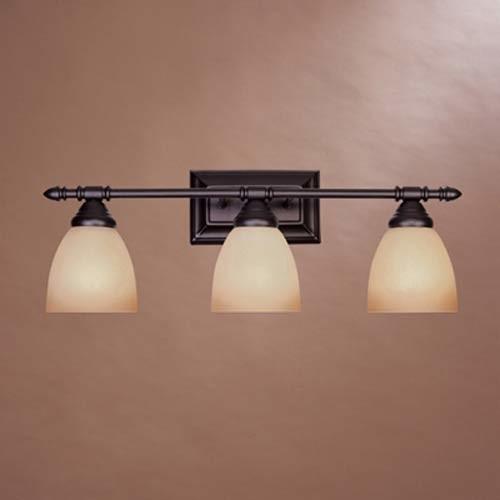 Houzz Bathroom Lighting Fixtures: Apollo Oil Rubbed Bronze Three-Light Bath Fixture