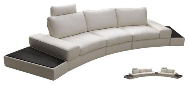 Luxury Sectional Upholstered in Real Leather modern-sectional-sofas