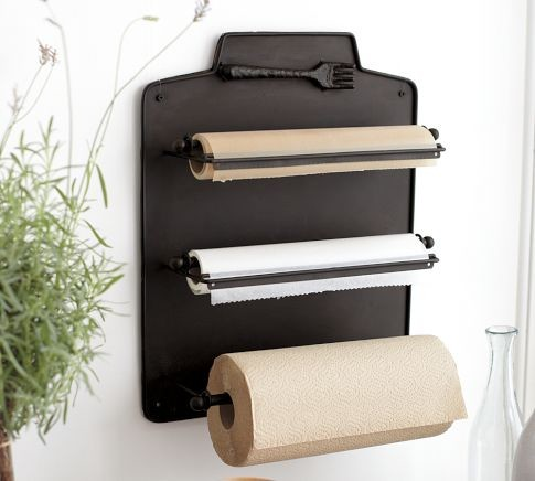 Cucina Wall-Mount Kitchen Roll Organizer traditional-cabinet-and-drawer-organizers